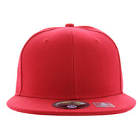 SP022 One Tone Size Fitted (Solid Red) - Size 7 3/4