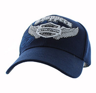 VM082 Choppers Ride Revolution Free Velcro Cap (Solid Navy)