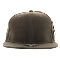 SP022 One Tone Size Fitted (Solid Brown) - Size 7 5/8