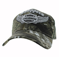 VM082 Choppers Ride Revolution Free Velcro Cap (Solid Hunting Camo)