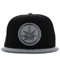 SM984 Marijuana Snapback Cap (Black & White)