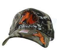 VM158 Horse & Rope Velcro Cap (Solid Hunting Camo)