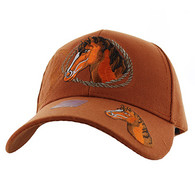VM158 Horse & Rope Velcro Cap (Solid Texas Orange)