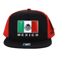 SM962 Hecho En Mexico Snapback Cap (Black & Red)