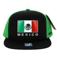SM962 Hecho En Mexico Snapback Cap (Black & Kelly Green)