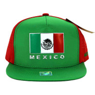 SM962 Hecho En Mexico Snapback Cap (Kelly Green & Red)