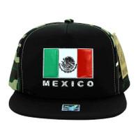 SM962 Hecho En Mexico Snapback Cap (Black & Military Camo)