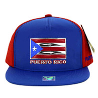SM962 Puerto Rico Snapback Cap (Royal & Red)