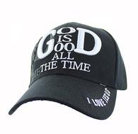 VM193 God is Good Velcro Cap (Solid Black)