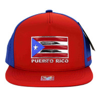 SM962 Puerto Rico Snapback Cap (Red & Royal)