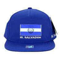 SM962 El Salvador Mesh Trucker Snapback Cap (Solid Royal)