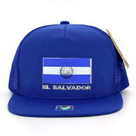 SM962 El Salvador Snapback Cap (Solid Royal)
