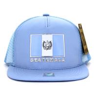 SM962 Guatemala Mesh Trucker Snapback Cap (Solid Sky Blue)