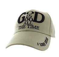 VM193 God is Good Velcro Cap (Solid Khaki)