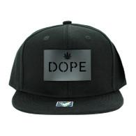 SM045 Dope Marijuana Snapback (Solid Black) - Black Metal