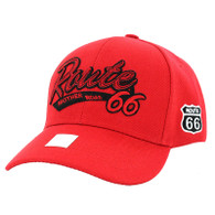 VM967 Route 66 Velcro Cap (Solid Red)