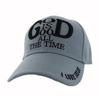 VM193 God is Good Velcro Cap (Solid Light Grey)