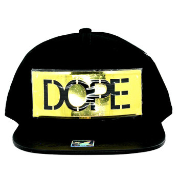 various colors 529c2 d9b11 SM057 DOPE Snapback (Black   Black) - Golden Metal - Ace Cap, Inc.
