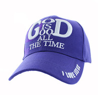 VM193 God is Good Velcro Cap (Solid Purple)