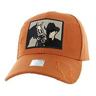 VM193 Malboro Cowboy Velcro Cap (Solid Texas Orange)