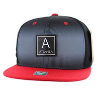 SM061 Atlanta Snapback Cap (Black & Red)