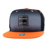 SM061 Baltimore Snapback Cap (Black & Orange)