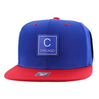 SM061 Chicago Snapback Cap (Royal & Red)