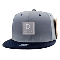 SM061 Dallas Snapback Cap (Grey & Navy)