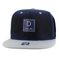 SM061 Dallas Snapback Cap (Navy & Grey)