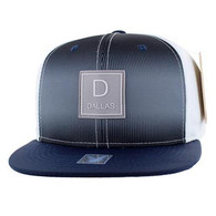 SM061 Dallas Snapback Cap (White & Navy)