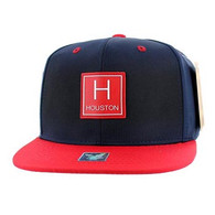SM061 Houston Snapback Cap (Navy & Red)