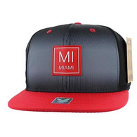 SM061 Miami City Snapback (Black & Red)