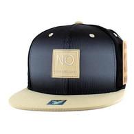 SM061 New Orleans Cotton Snapback Cap Hat (Black & Khaki)