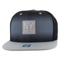 SM061 New York Snapback Cap (Black & Light Grey)