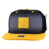 SM061 Pittsburgh Snapback Cap (Black & Gold)