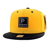 SM061 Pittsburgh Snapback Cap (Gold & Black)