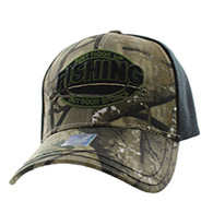 VM504 Fishing Outdoor Sports Velcro Cap (Hunting Camo & Black)