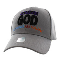 VM301 With God Velcro Cap (Solid Light Grey)