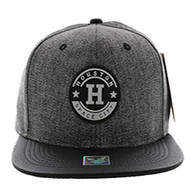 SM581 Houston City Snapback (Charcoal & Black)