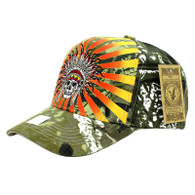 VM055 Native Pride Velcro Cap (Solid Hunting Camo)