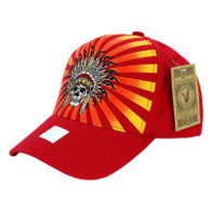 VM055 Native Pride Velcro Cap (Solid Red)
