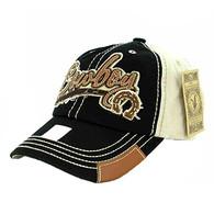 BM942 Cowboy Buckle Cap (Black & Khaki)
