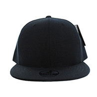 SP002 One Tone Snapback Cap (Solid Black)
