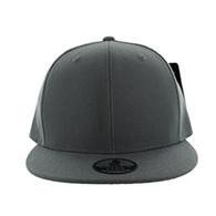 SP002 One Tone Snapback Cap (Solid Dark Grey)