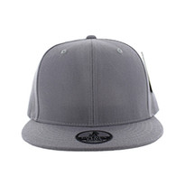 SP002 One Tone Snapback Cap (Solid Light Grey)