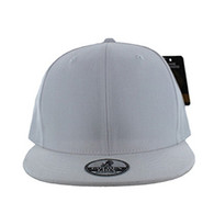 SP002 One Tone Snapback Cap (Solid White)