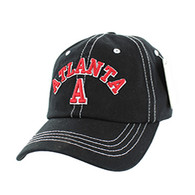 BM001 Atlanta Washed Cotton Cap (Solid Black)