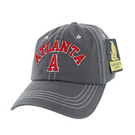 BM001 Atlanta Washed Cotton Cap (Solid Charcoal)