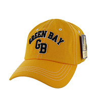 BM001 Green Bay Washed Cotton Cap (Solid Gold)