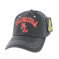 BM001 Florida Washed Cotton Cap (Solid Charcoal)